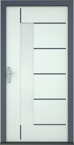 Dveře Brigitte - detail prosklení 3