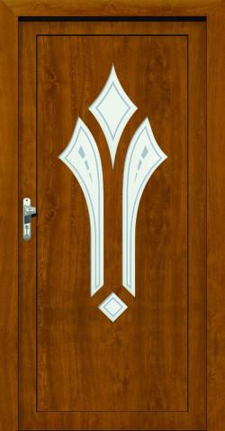 Plastové vchodové HPL dveře Klara