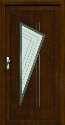 Plastové vchodové HPL dveře Lenka