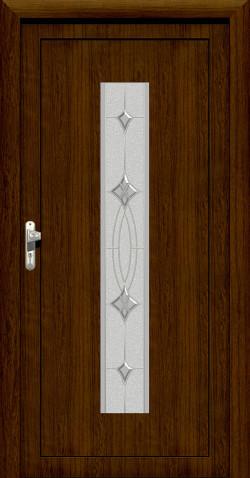 Plastové vchodové HPL dveře Aneta