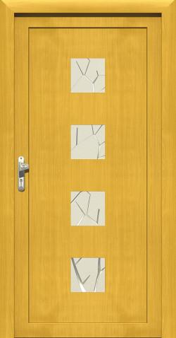 Plastové vchodové HPL dveře Ida