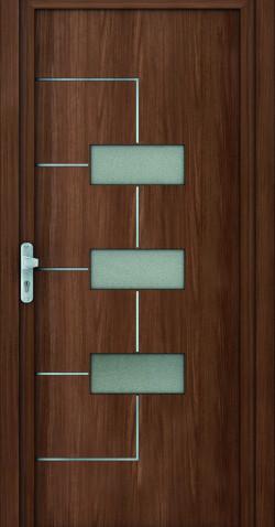 Plastové vchodové HPL dveře Jarmila