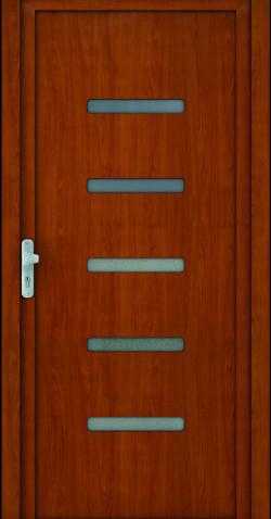 Plastové vchodové HPL dveře Jasna