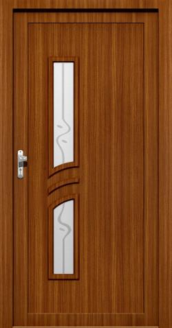 Plastové vchodové HPL dveře Lada