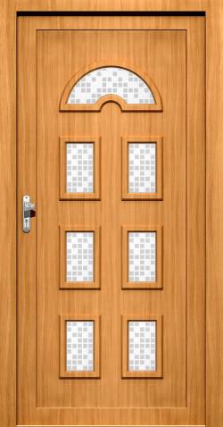 Plastové vchodové HPL dveře Marika