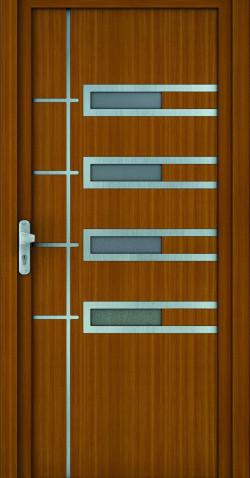 Plastové vchodové HPL dveře Zuzana