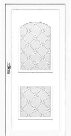 Plastové vchodové HPL dveřeTereza