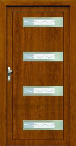 Plastové vchodové HPL dveře Vlasta